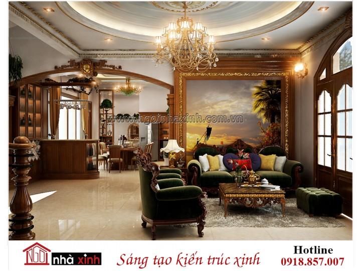 Mẫu nội thất đẹp NHÀ XINH | Tân Cổ điển | Chú Khanh - Bình Thạnh | NNX - NT724