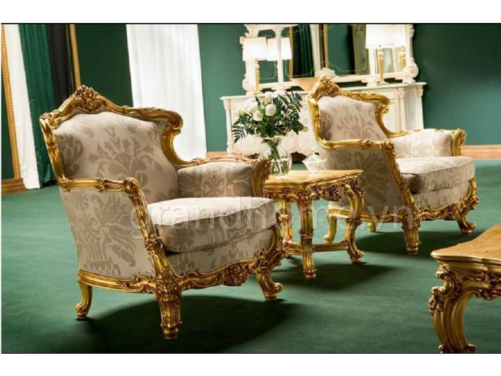 Mẫu nội thất mạ vàng ghế sofa NNX-SFMV-003