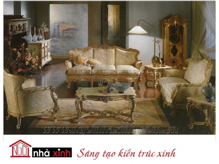 Mẫu nội thất mạ vàng ghế sofa NNX-SFMV-004