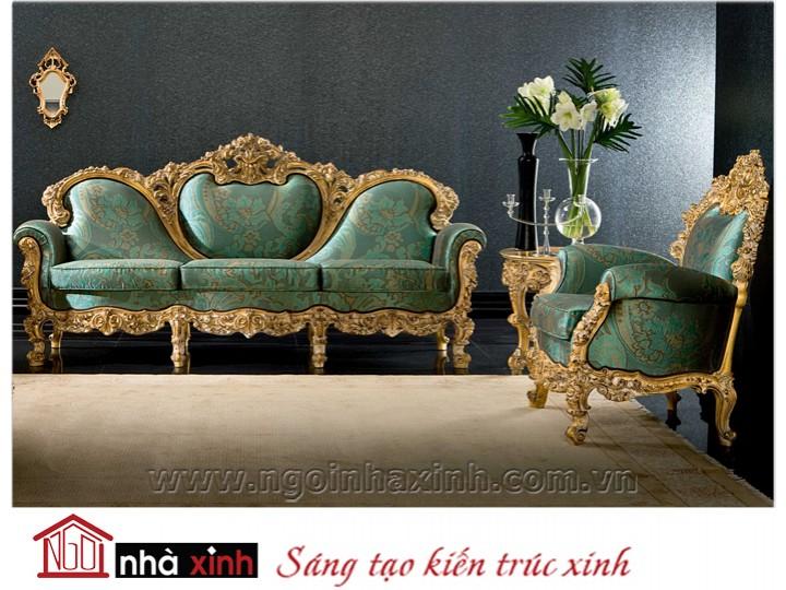 Mẫu nội thất mạ vàng ghế sofa NNX-SFMV-008