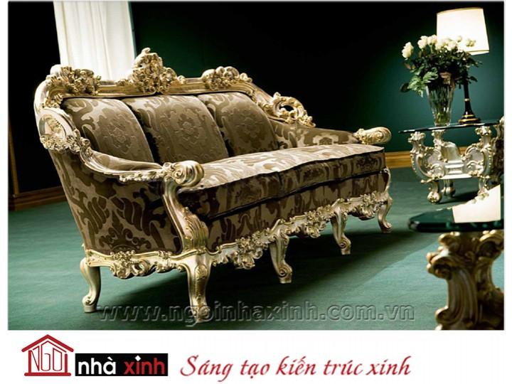 Mẫu nội thất mạ vàng ghế sofa NNX-SFMV-002