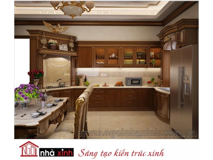 Mẫu nội thất cao cấp phòng bếp phòng ăn đẹp NNX-BCĐ18