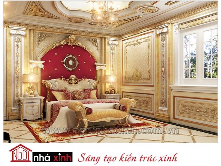 Mẫu nội thất mạ vàng phòng ngủ đẹp NNX-PNMV-001