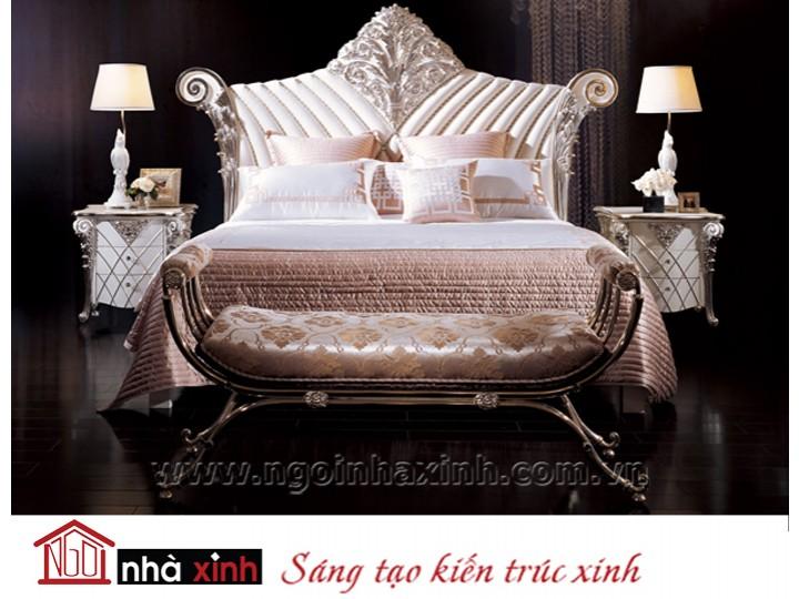 Mẫu nội thất mạ vàng phòng ngủ đẹp NNX-PNMV-002