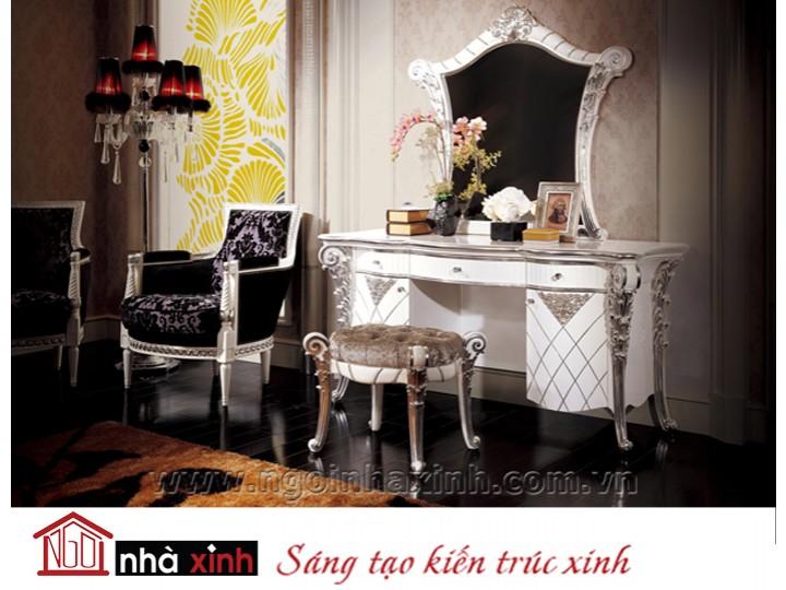 Mẫu nội thất mạ vàng phòng ngủ đẹp NNX-PNMV-003