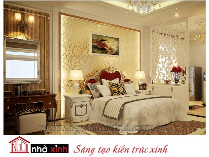 Mẫu nội thất mạ vàng phòng ngủ đẹp NNX-PNMV-005