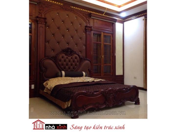 Mẫu nội thất mạ vàng phòng ngủ đẹp NNX-PNMV-006