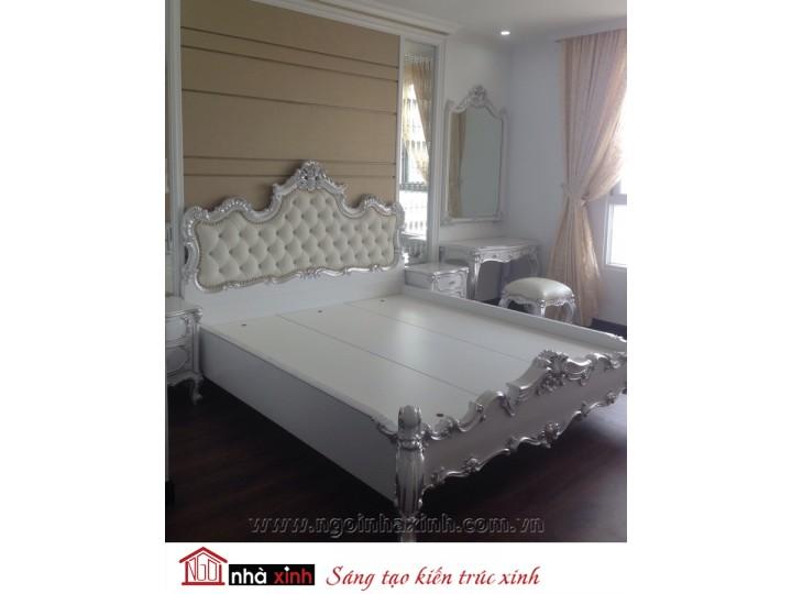 Mẫu nội thất mạ vàng phòng ngủ đẹp NNX-PNMV-007