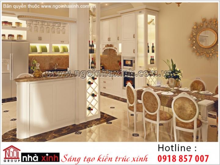 Mẫu Nội Thất Phòng Bếp & Phòng Ăn Đẹp | Tân Cổ Điển | Chú Hòa - Tây Ninh | NT. NNX 184
