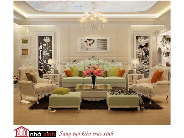 Mẫu thi công nội thất – Ngôi Nhà Xinh| Tân cổ điển| Đã thi công – Nhà Hoa hậu Mi Na Lê