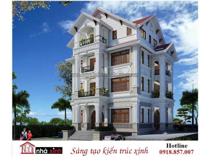Mẫu thiết kế biệt thự đẹp| Cổ điển| Anh Dương-Him Lam| NNX 706