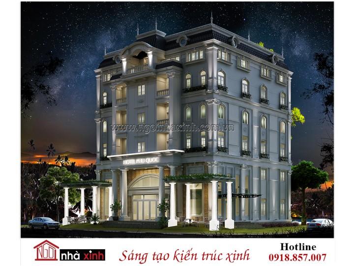 Mẫu Thiết Kế Biệt Thự Đẹp | Cổ Điển | Khách Sạn – Phú Quốc | NNX - BT700