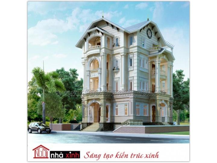 Mẫu thiết kế biệt thự | Cổ Điển | Nhà anh Dương- Him Lam - BT-NNX0614