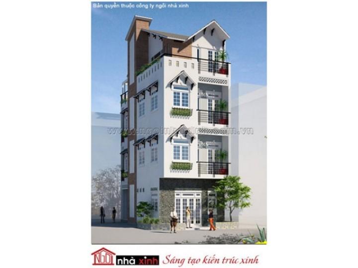 Mẫu Thiết Kế Nhà Phố Đẹp | Hiện Đại | 4 Tầng | 5 M Mặt Tiền | Chị Hoa – Quận Tân Bình | NPNNX010