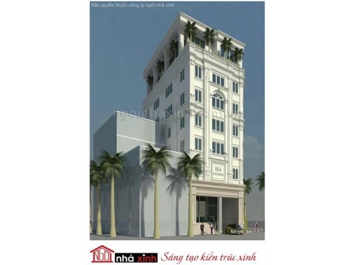 Mẫu Thiết Kế Nhà Phố Đẹp | Cổ Điển | 8 Tầng | Mái Bằng | 12M Mặt Tiền | Chị Nga - Q. Tân Bình  | NPNNX039