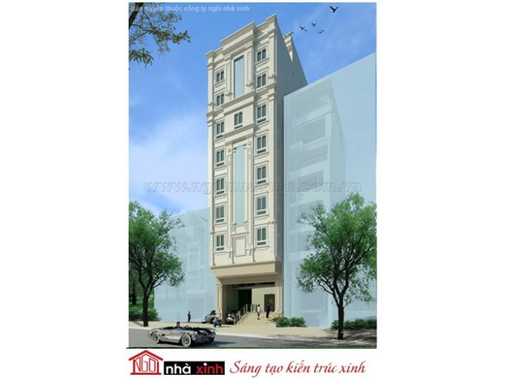 Mẫu Thiết Kế Nhà Phố Đẹp | Cổ Điển | Mái Bằng | 8 Tầng | 10M Mặt Tiền | Cô Thanh Qúy - Quận 10 | NPNNX007
