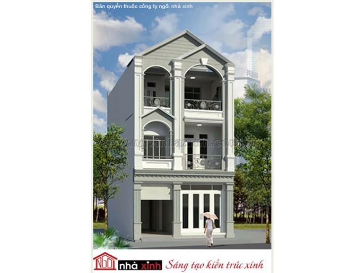 Mẫu Thiết Kế Nhà Phố Đẹp | Cổ Điển | Mái Dốc | 3 Tầng | 6M Mặt Tiền | Chị Trang – Quận 5 | NPNNX118