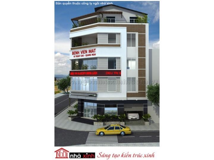 Mẫu Thiết Kế Nhà Phố Đẹp | Hiện Đại | 5 Tầng | 9M Mặt Tiền - Quảng Ngãi | NPNNX099