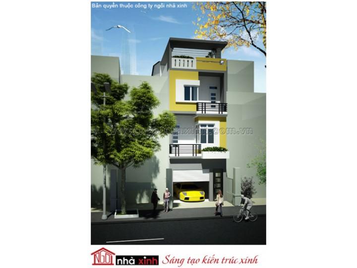 Mẫu Thiết Kế Nhà Phố Đẹp | Hiện Đại | Mái Bằng | 3 Tầng | 4M Mặt Tiền | Cô Yến - Quận 3 | NPNNX015
