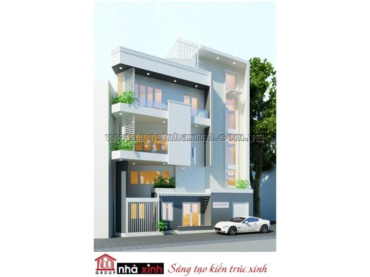 Mẫu Thiết Kế Nhà phố  Đẹp  | Hiện Đại | Mái bằng | 4 tầng | 4,5 M Mặt tiền | Chị Thảo - Q. Bình Thạnh | NPNNX201