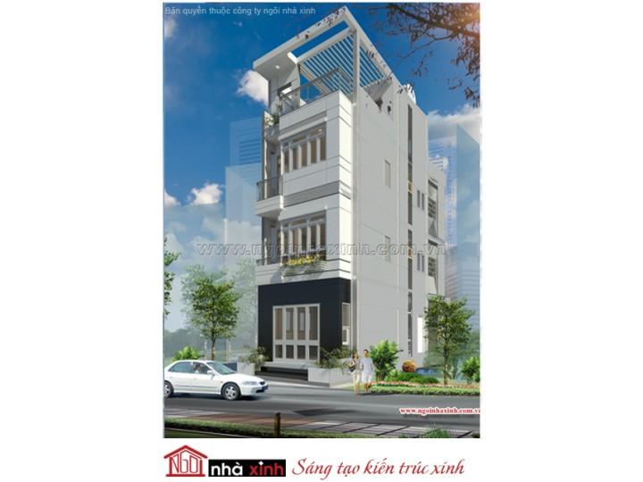 Mẫu Thiết Kế Nhà Phố Đẹp| Hiện Đại | Mái Bằng | 4 Tầng | 5M Mặt Tiền | Chị Tuyết - Quận 1 | NPNNX080