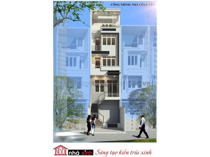 Mẫu Thiết Kế Nhà Phố Đẹp | Hiện Đại | Mái Bằng | 5 Tầng | 4M Mặt Tiền | Bà Đỗ Quyên - Quận 2  | NPNNX008