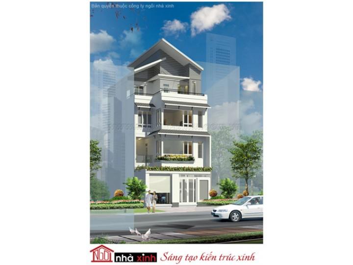 Mẫu Thiết kế Nhà Phố Đẹp | Hiện Đại | Mái Nghiêng | 4 Tầng | 9 M Mặt tiền | Anh Hải - Quận 4 | NPNNX129