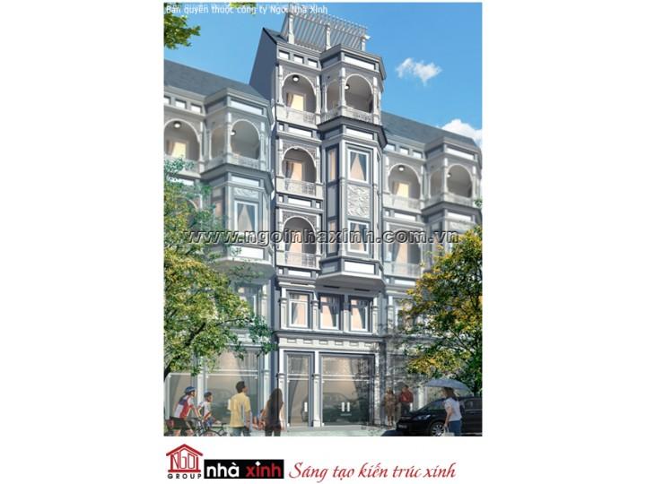Mẫu Thiết Kế Nhà Phố Đẹp | Tân Cổ Điển | Mái Bằng | 5 Tầng | 5M Mặt tiền | Anh Hải - Q. Tân Bình | NPNNX203