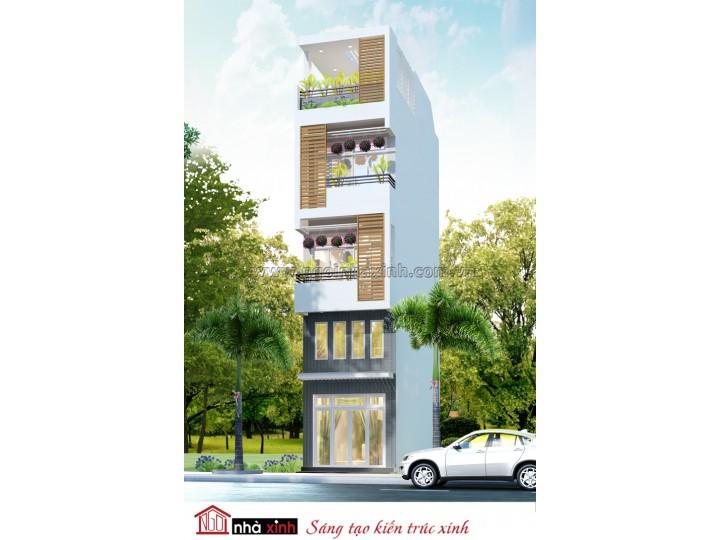 Mẫu thiết kế nhà phố đẹp | Nhà anh Quốc - Bình Thạnh - NP-NNX0618