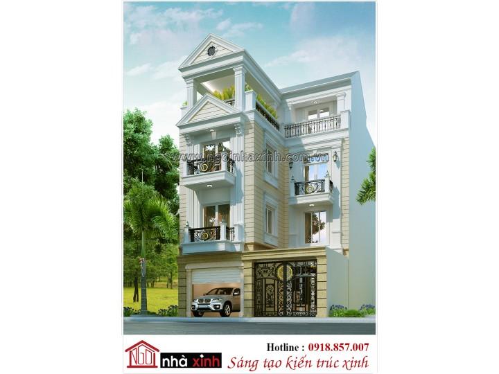 Mẫu thiết kế nhà phố | Tân Cổ Điển | Nhà Chị Hòa - Thái Phiên | NP - NNX0619