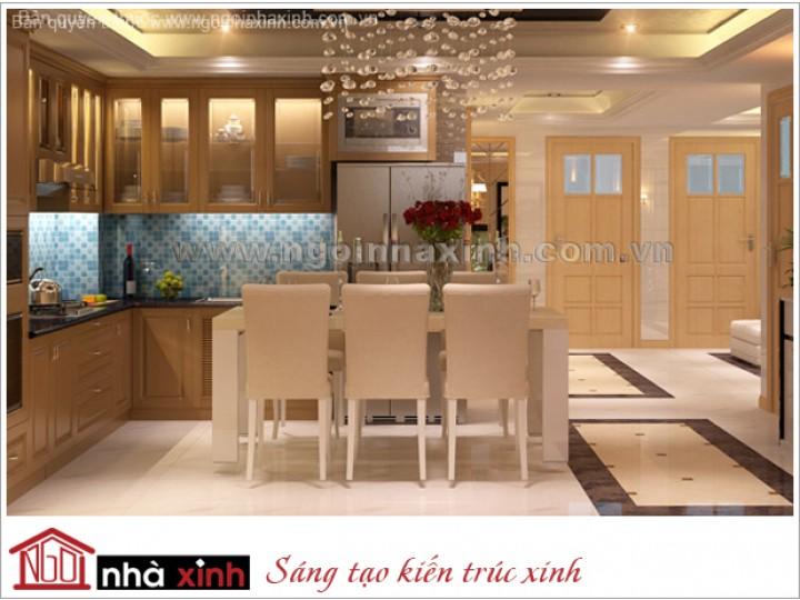 Mẫu Thiết Kế Nội Thất Phòng Bếp & Phòng Ăn Đẹp | Cổ Điển | Cô Qúy - Quận 5 | NT.NNX043