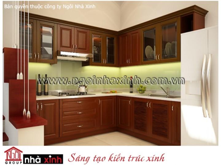 Mẫu Thiết Kế Nội Thất Phòng Bếp & Phòng Ăn Đẹp   Hiện Đại   Chị Ánh - Bình Dương  NT.NNX041