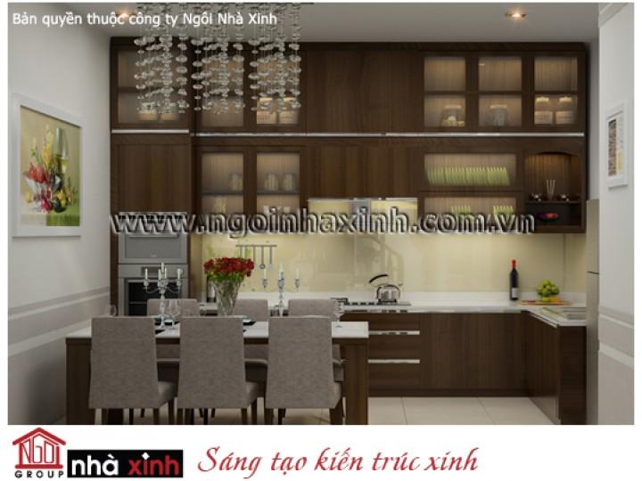 Mẫu Nội Thất Phòng Bếp & Phòng Ăn Đẹp | Hiện Đại | Anh Văn - Quận 1 | NT.NNX 141