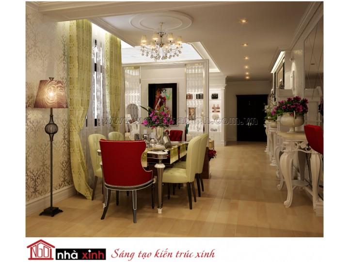 Mẫu Nội Thất Phòng Bếp & Phòng  Ăn Đẹp | Tân Cổ Điển |  Chị My Na Lê - Quận 7 | NT. NNX143
