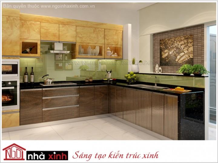 Nội Thất Phòng Bếp & Phòng Ăn Đẹp | Tân Cổ Điển | Chị Lan - Q. Bình Thạnh | NT. NNX 125