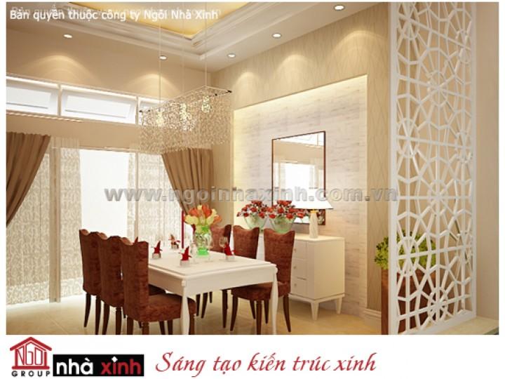 Mẫu Nội Thất Phòng Bếp & Phòng Ăn Đẹp   Tân Cổ Điển   Anh Diệu - Q. Tân Bình    NT. NNX113