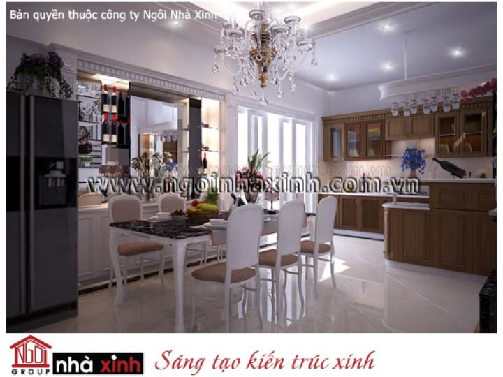 Mẫu Thiết Kế Nội Thất Phòng Bếp & Phòng Ăn Đẹp | Tân Cổ Điển | Chị Loan - Quận 8  | NT.NNX129