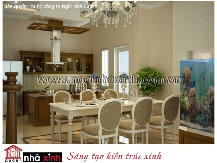 Mẫu Thiết Kế Nội Thất Phòng Bếp Đẹp | Tân Cổ Điển | Cô Nhì - Quận 9  | NT. NNX056