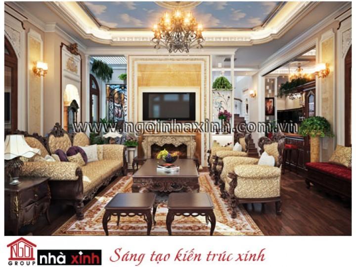 Mẫu Nội Thất Phòng Khách Đẹp Kiêu Sa | Cổ Điển | Biệt Thự | Hà Tĩnh | NT. NNX064