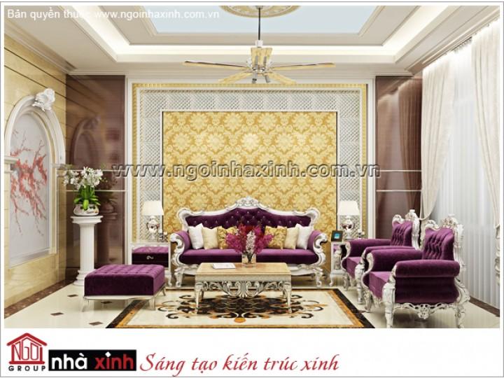 Mẫu Phòng Khách Đẹp Kiêu Sa | Cổ Điển | Biệt Thự | ĐC: Q. Tân Bình | NT.NNX170