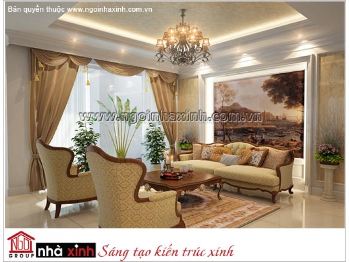 Thiết Kế  Phòng Khách Đẹp Kiêu Sa | Tân Cổ Điển | Biệt Thự | Q. 5 | NT.NNX043