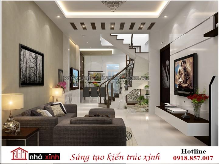 Mẫu thiết kế nội thất phòng khách | Hiện Đại | Anh Quý - Gò Vấp | NT. NNX 191