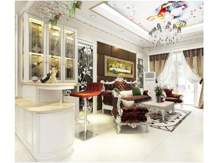 Mẫu thiết kế nội thất Tân cổ điển nhà Chị Huyền