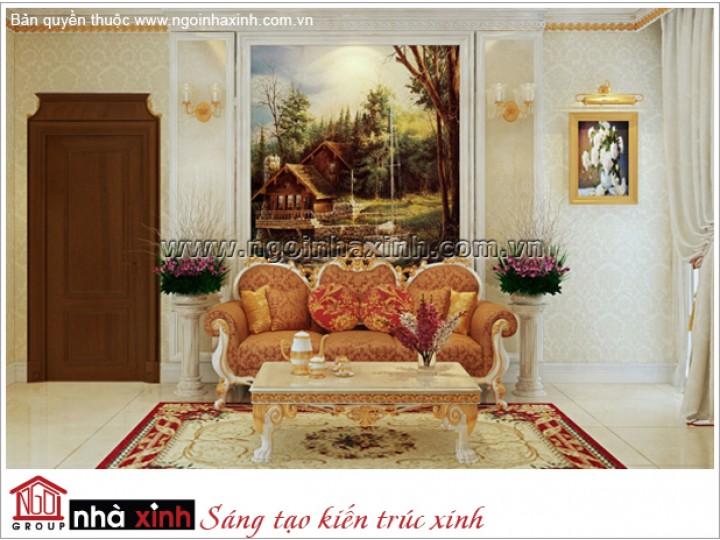 Mẫu Phòng Sinh Hoạt Chung Đẹp | Cổ Điển | Biệt Thự | Quận 7 | NTNNX164