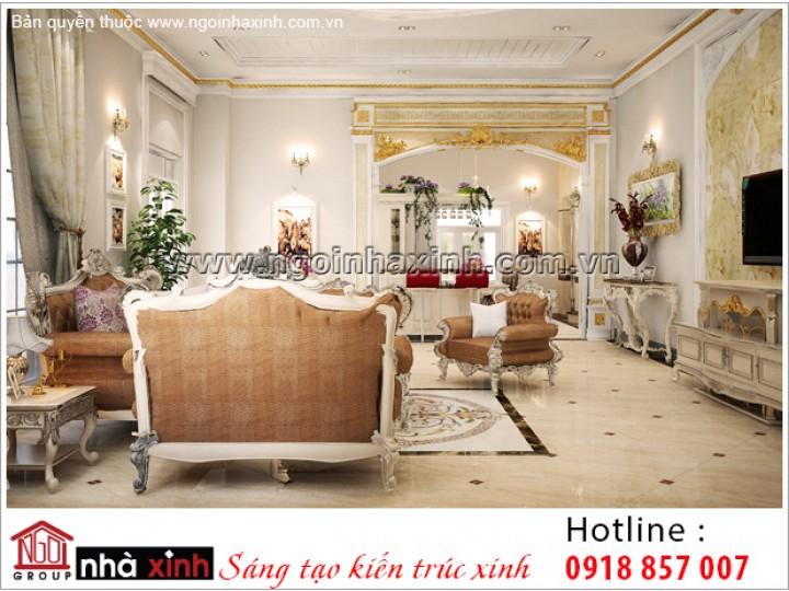 Mẫu Thiết Kế Phòng Khách Đẹp | Cổ Điển | NT. NNX 189