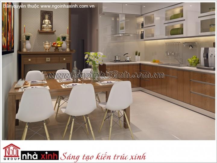 Mẫu Nội Thất Phòng Bếp & Phòng Ăn Đẹp | Hiện Đại | Anh Huy - Tân Bình  | NT. NNX 177