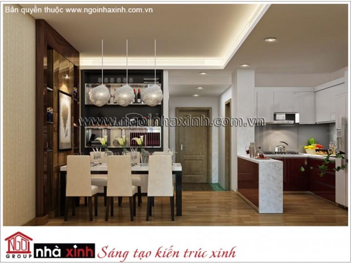 Mẫu Nội Thất Phòng Bếp & Phòng Ăn Đẹp | Hiện Đại - Thăng Long | NT. NNX 175