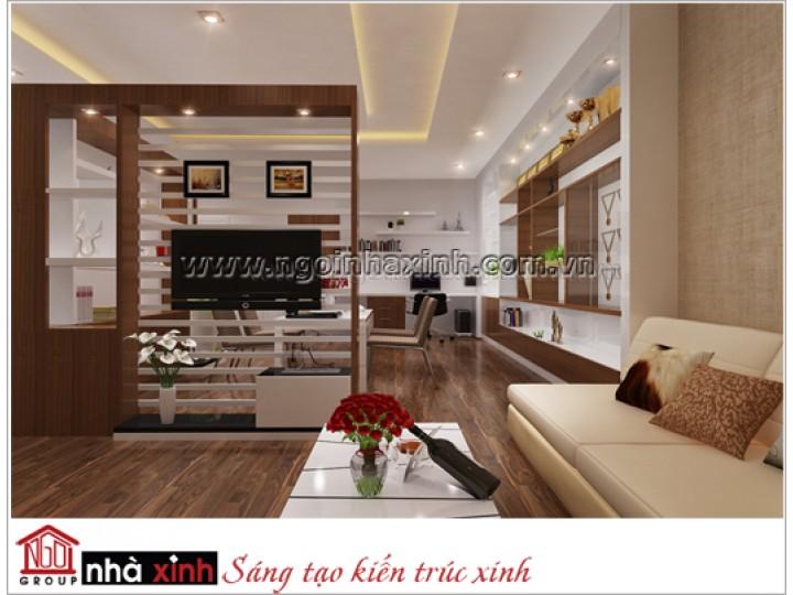 nhà xinh với nội thất đẹp phòng khách hiện đại nhà anh Quýnh Phú Nhuận