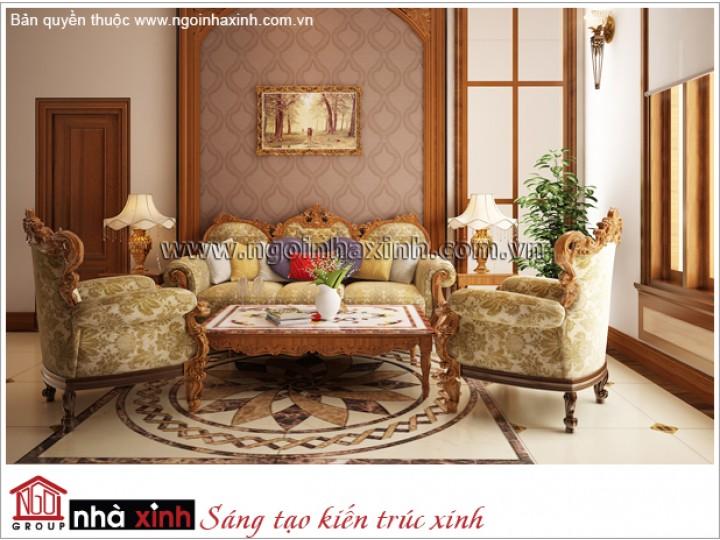 Mẫu Thiết Kế Phòng Khách Đẹp Kiêu Sa | Tân Cổ Điển | Biệt Thự - Q.Gò Vấp | NT. NNX 168