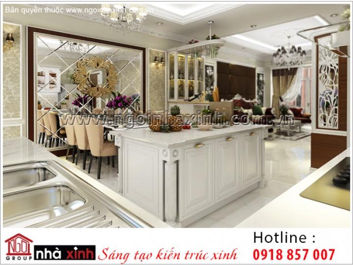 Mẫu Nội Thất Phòng Bếp & Phòng Ăn Đẹp | Tân Cổ Điển | NT. NNX 193